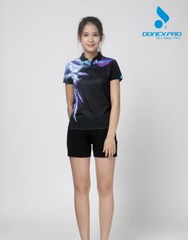 Quần thể thao nữ ASC-876 - Đen phối xanh copan