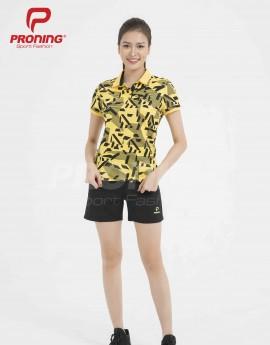 Áo thể thao nữ AC-3389-06-08 Vàng đậm