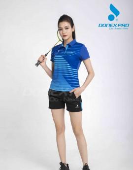 Áo thể thao nữ AC-3644 Xanh bích phối xanh copan