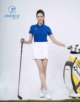 Áo thể thao Golf nữ AC-3660-04-18 Xanh bích phối ghi
