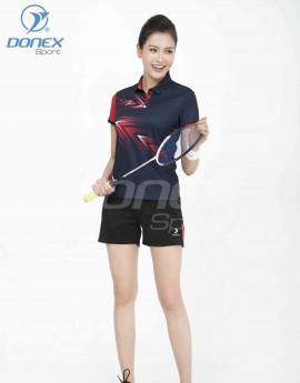 Áo thể thao nữ AC-3662-12-07 Xanh navy phối đỏ