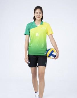 Bộ thể thao nữ ACB 5134-03-06 Xanh lá phối Vàng