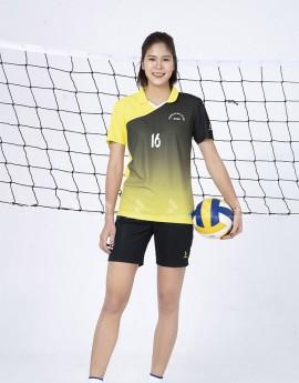 Bộ thể thao nữ ACB 5134-06-08 Vàng phối Đen
