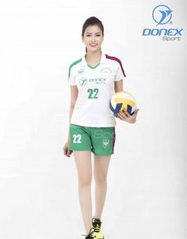 Bộ thể thao nữ ACB-5150-01-03 Trắng phối xanh lá