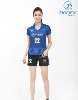 Bộ thể thao nữ ACB-5150-04-06 Xanh bích phối vàng