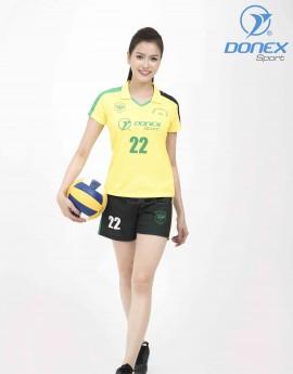 Bộ thể thao nữ ACB-5150-06-03 Vàng phối xanh lá