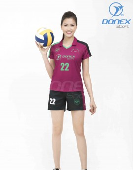 Bộ thể thao nữ ACB-5150-14-03 Đỏ đô phối xanh lá