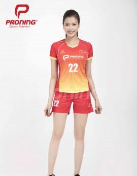 Bộ thể thao nữ ACB-5151-07-06 Đỏ phối vàng