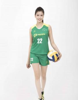 Bộ bóng chuyền nữ ACB-5155-03-06 Xanh lá phối vàng