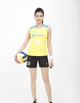Bộ bóng chuyền nữ ACB-5155-06-02 Vàng phối xanh copan