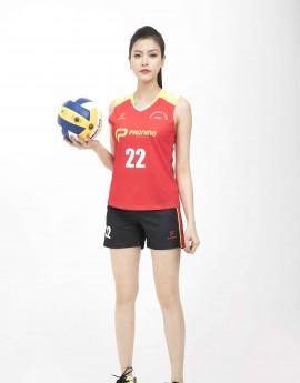 Bộ bóng chuyền nữ ACB-5155-07-06 Đỏ phối vàng