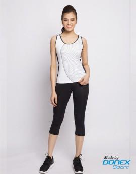 Áo thể thao nữ AC-3654 trắng phối đen
