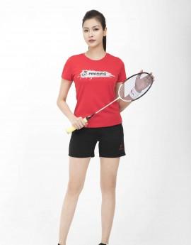 Quần thể thao nữ ASC-875 Đen phối đỏ