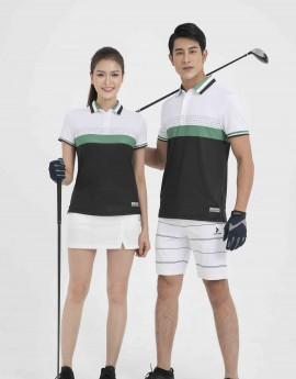 Áo thể thao Golf nam MC-9048-01-08 Trắng phối đen